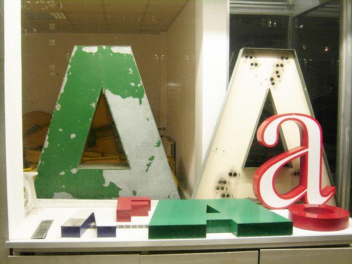Antiguas tipografías en el museo de las letras