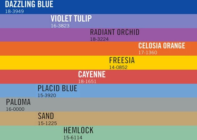 colores pantone los 10 que marcar n tendencia en 2014 y 2015