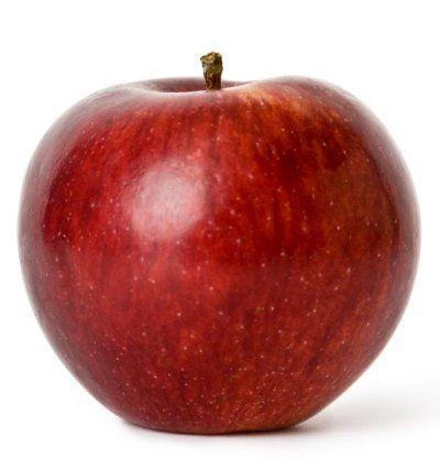 Una manzana. Una forma sencilla y apetecible