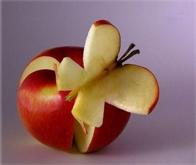 Una manzana demasiado creativa