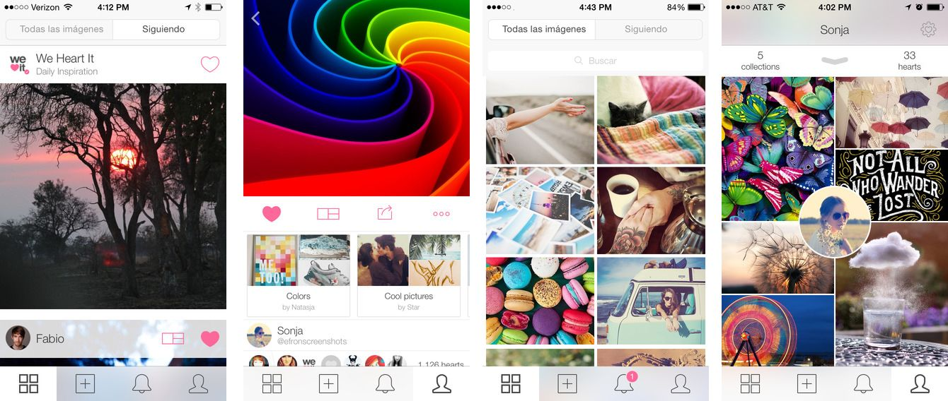Apps sociales en auge como We Heart It